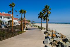 Spiaggia a San Diego Fotografia Stock Libera da Diritti