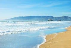 Spiaggia a San Francisco California Immagini Stock Libere da Diritti