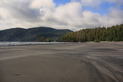 Spiaggia a San Josef Bay, BC Fotografia Stock