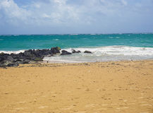 Spiaggia in San Juan Puerto Rico Fotografie Stock