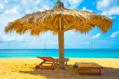 Spiaggia in Santa Lucia, isole dei Caraibi Immagini Stock