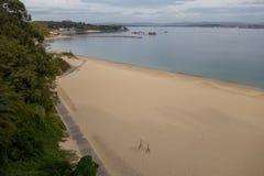 Spiaggia a Santander, Spagna immagine stock
