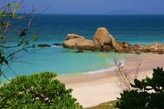 Spiaggia a sanya Fotografia Stock Libera da Diritti