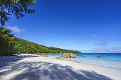 Spiaggia sbalorditiva di paradiso a anse Lazio, praslin, Seychelles 41 Fotografie Stock Libere da Diritti