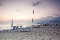 Spiaggia scenica al tramonto Immagine Stock Libera da Diritti