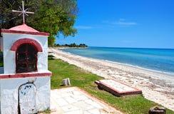 Spiaggia scenica a Chalkidiki in Grecia Fotografie Stock