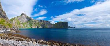Spiaggia scenica sulle isole di Lofoten fotografia stock libera da diritti