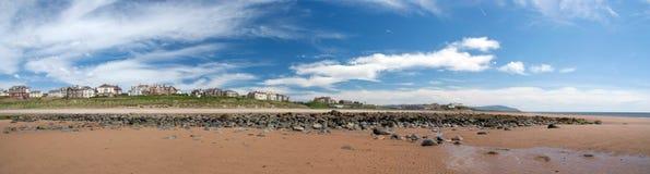 Spiaggia in Seascale, Cumbria. L'Inghilterra Immagine Stock