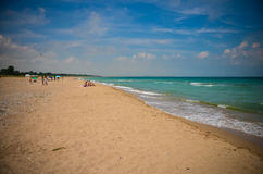 Spiaggia selvaggia Bulgaria di Krapetz Fotografia Stock