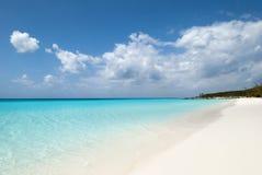 Spiaggia selvaggia caraibica Fotografie Stock Libere da Diritti