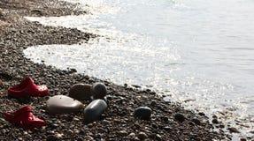 Spiaggia selvaggia del paesaggio del mare della natura fotografia stock