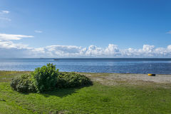 Spiaggia selvaggia in Landskrona 1 Immagine Stock
