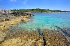 Spiaggia selvaggia in Pola Fotografia Stock