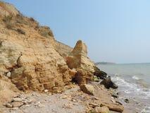 Spiaggia selvaggia sul Mar Nero Fotografie Stock Libere da Diritti
