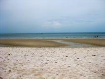 Spiaggia senza fine di Hua Hin Fotografia Stock Libera da Diritti