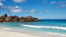 Spiaggia Seychelles Fotografia Stock