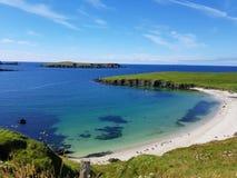 Spiaggia in Shetland Immagini Stock Libere da Diritti