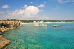 Spiaggia in Sicilia Fotografia Stock Libera da Diritti