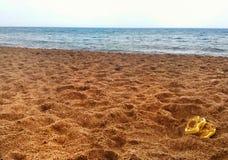 Spiaggia siciliana di inverno Fotografia Stock