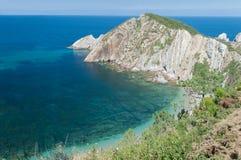 Spiaggia silenziosa, Spagna Fotografie Stock