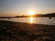 Spiaggia Silver Lake Serbia Immagini Stock