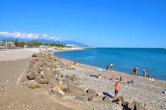 Spiaggia in Soci La Russia Fotografia Stock