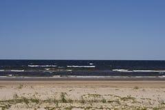 Spiaggia sola Immagini Stock