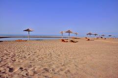 Spiaggia di Sandy Fotografia Stock