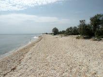 Spiaggia sola del Mar Nero 4 Fotografia Stock