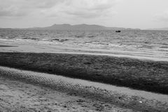 Spiaggia sola di Pattaya Immagini Stock Libere da Diritti