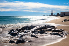 Spiaggia soleggiata Immagine Stock