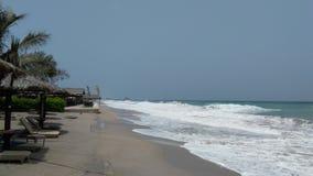 Spiaggia sotto forte vento Fotografia Stock