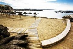 Spiaggia in Spagna Fotografia Stock Libera da Diritti
