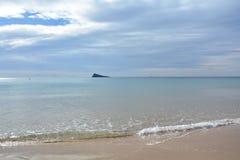 Spiaggia Spagna di Benidorm, dove non nevica mai Fotografia Stock