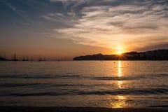 Spiaggia spagna di ponza di Santa fotografia stock libera da diritti