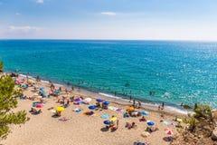 Spiaggia spagnola, Costa Dorada Immagine Stock