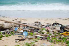 Spiaggia sporca Fotografia Stock