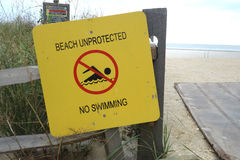 Spiaggia sprotetta Fotografie Stock