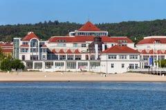 Spiaggia in stazione turistica di Sopot fotografia stock libera da diritti
