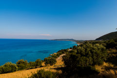 Spiaggia stupefacente al mare ionico fotografia stock libera da diritti