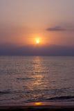 Spiaggia stupefacente della Tailandia della forma di tramonto Immagini Stock