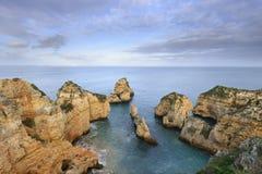 Spiaggia stupefacente di Algarve a Lagos Immagine Stock Libera da Diritti