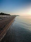 Spiaggia su alba Immagine Stock