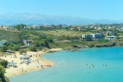Spiaggia su Creta, Grecia Immagini Stock
