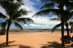Spiaggia su pattaya, Tailandia Fotografie Stock Libere da Diritti