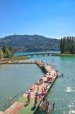 Spiaggia sul lago degno worthersee l 39 austria immagine for Lago mobili di valore