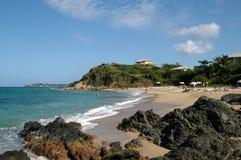 Spiaggia su vieques Fotografia Stock