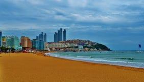 Spiaggia sudcoreana Fotografia Stock Libera da Diritti