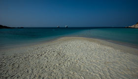 Spiaggia sul ko nangyuan Immagine Stock