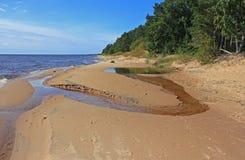 Spiaggia sul lago Peipsi Fotografia Stock